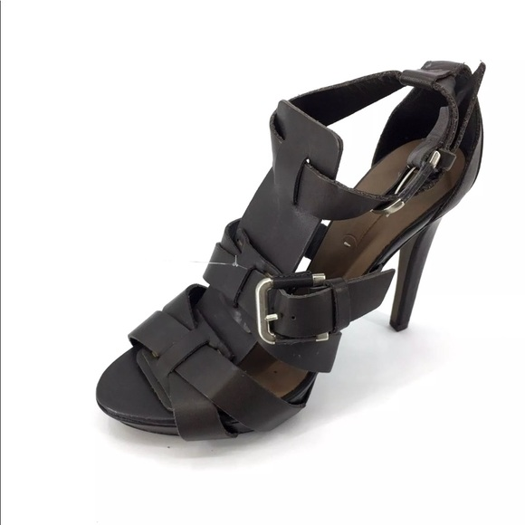 e265450f8e5 NWT  99 Zara Stiletto Strappy Heels Brown Size 7.5